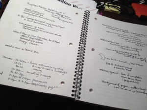Proof that I am doing what I say I'm going to do and planning for my next writing session.